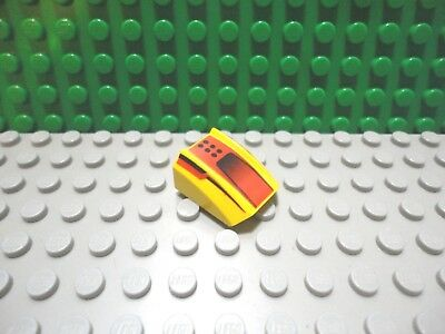 Lego 1 Yellow 2x2 printed sloped brick block with submarine sonar screen