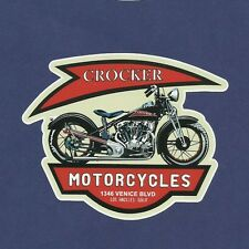 """CROCKER"" Vinyl Decal Sticker CAFE RACE MOTORCYCLE SUZUKI BSA INDIAN ARIEL POPE"