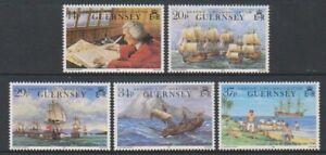 Guernsey-1990-Anson-039-s-Circumnavigation-Set-MNH-Sg-496-500