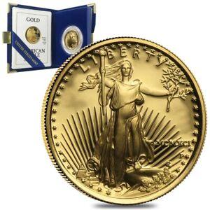 1991-W-1-oz-50-Proof-Gold-American-Eagle-w-Box-amp-COA