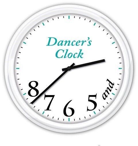 DANCER/'S TIME WALL CLOCK GIFT BALLET JAZZ TAP STUDIO 5 6 7 BLACK QUIET MOTOR