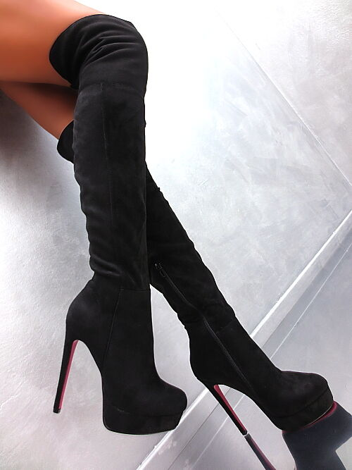 NeU Stiefel Pink Sole Plateau Damen Overknee High Heel Stiefel NeU Z36 Stiefel Schuhe 38 293f88