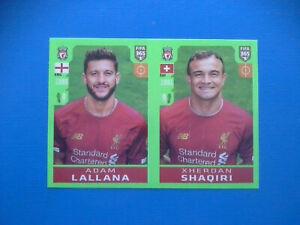 Figurine-Panini-Fifa-365-2019-20-2020-n-37-Lallana-Shaqiri-Liverpool