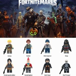 8 Pcs Set Fortnite Battle Royale Building Blocks Figures Game