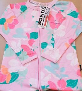 Humble Bonds Pink Woodblock Floral Wondersuit Size 2 Nwt! Clothing, Shoes & Accessories