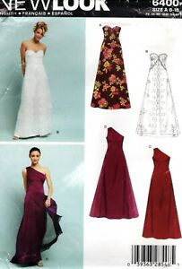 New-Look-6400-Wedding-Dress-Bridesmaid-Evening-Gown-Sewing-Pattern-Uncut