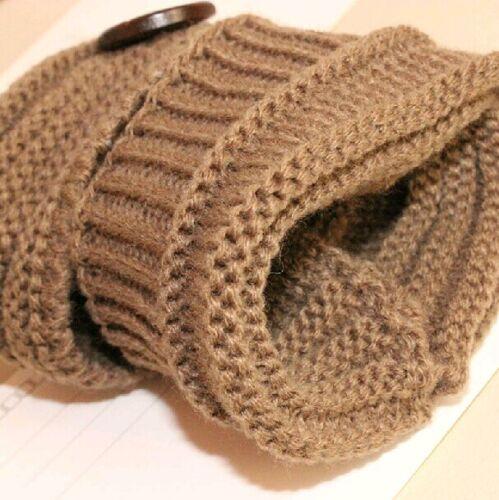 Lady Knitted Fingerless Gloves Winter Arm Warmer Gift Crochet Button Warm Mitten