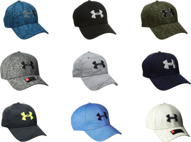 4853241f Under Armour Men's Printed Blitzing Stretch Fit Cap, 9 Colors