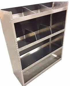 aluminum van shelving storage for ford transit connect 38. Black Bedroom Furniture Sets. Home Design Ideas