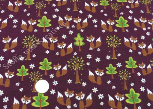 Fox in the forest Sweat Jersey burgund rot Hilco Füchse 25 cm