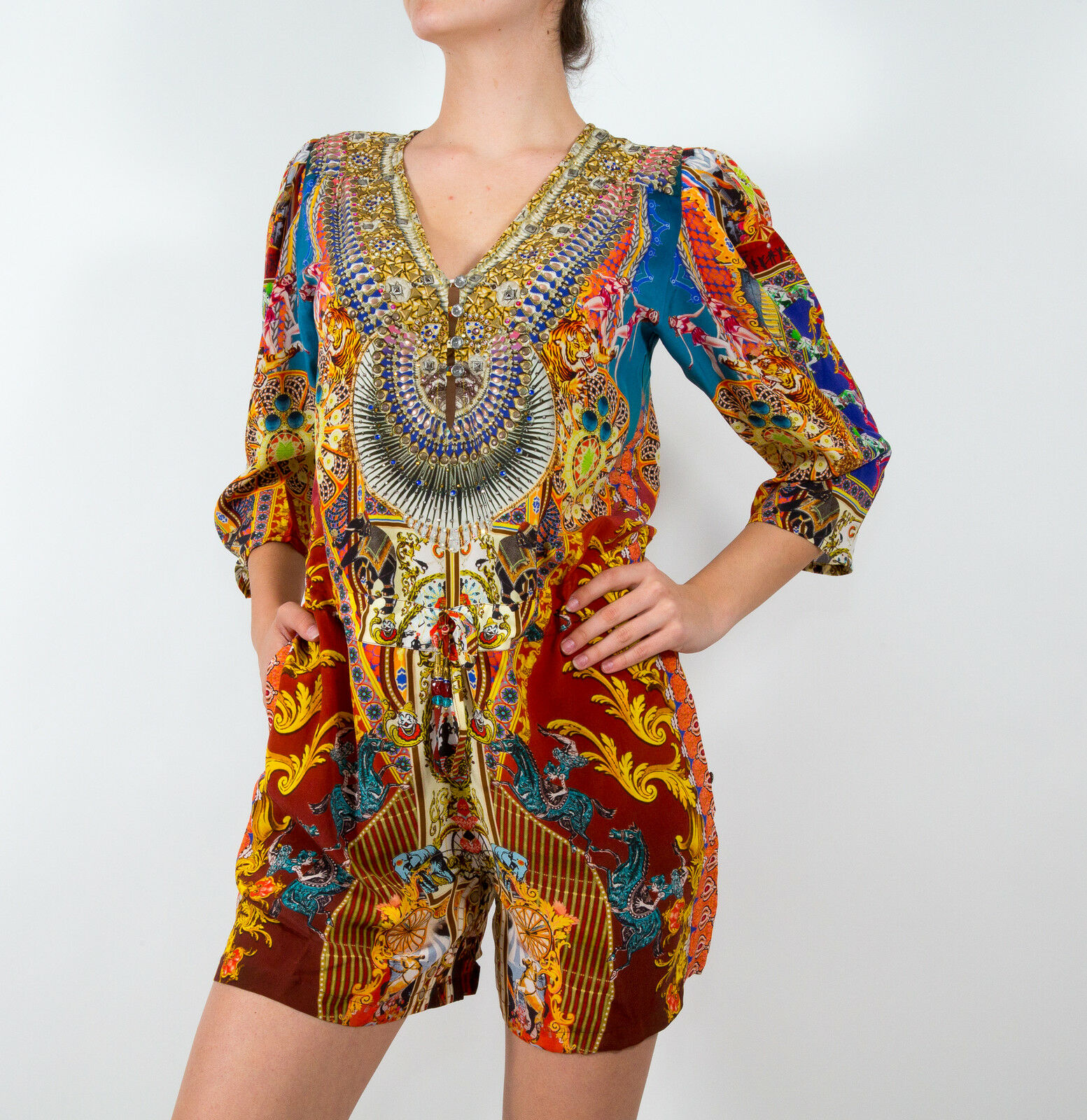 Camilla Franks Long Sleeve Romper in The Ringleader Playsuit size 2