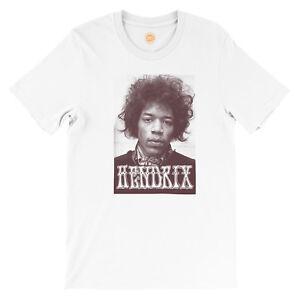 JIMI-HENDRIX-Camiseta-En-Blanco-Por-studio315