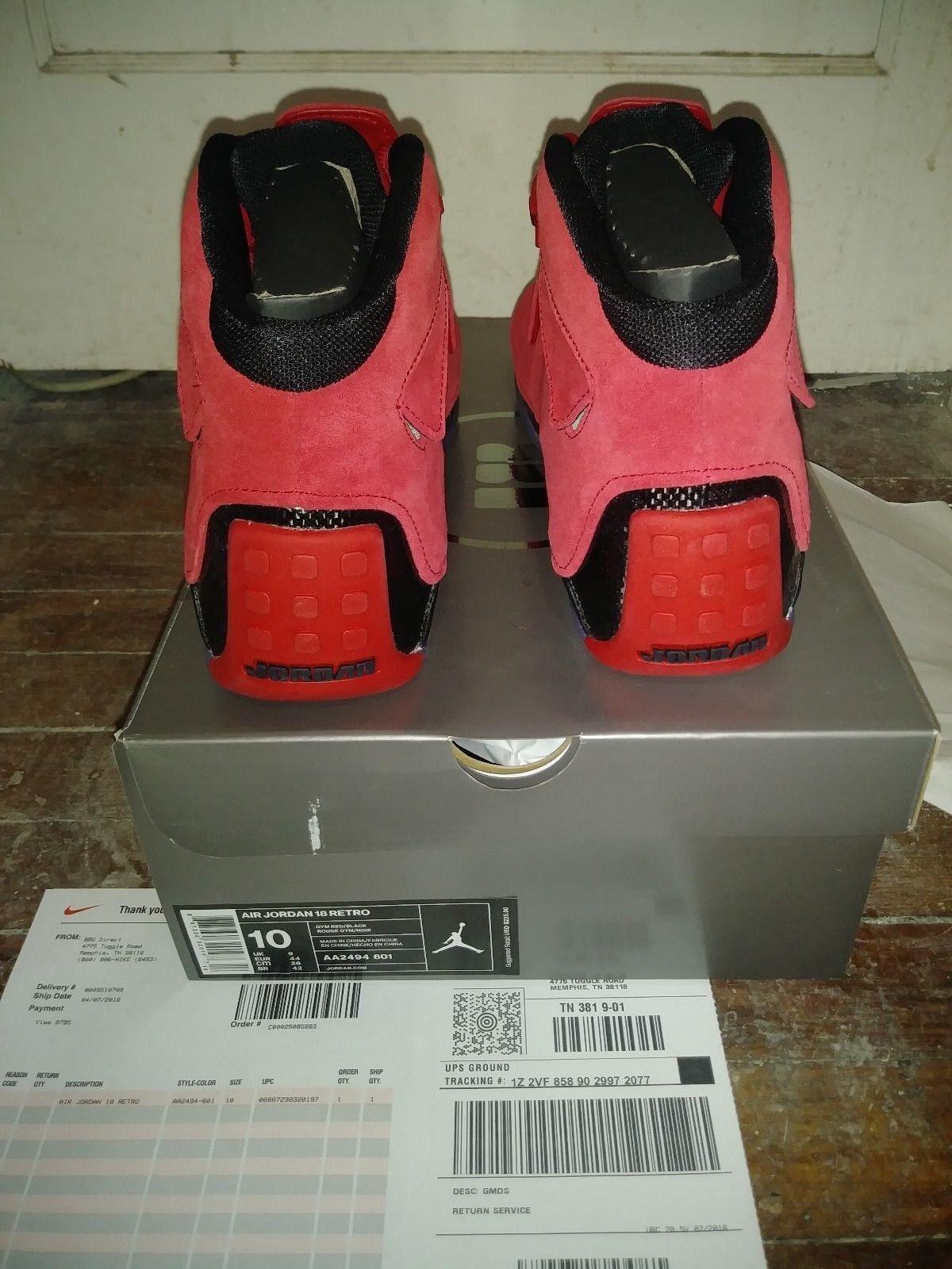 New Air Jordan 18 Retro Toro Gym Red Suede AA2494 601 Chicago Bulls Rare Limited Seasonal clearance sale