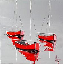 Marine JP DOUCHEZ Tableau Peinture huile sur toile au couteau Drouot Artmajeur