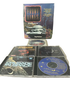 Lot-of-6-pc-CD-ROM-games-Vintage-Spider-Man-Space-Secret-Of-The-Castle