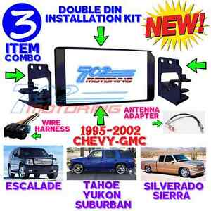 1995-2002-GM-FULL-SIZE-TRUCK-amp-SUV-DOUBLE-DIN-CAR-STEREO-INSTALLATION-DASH-KIT-3