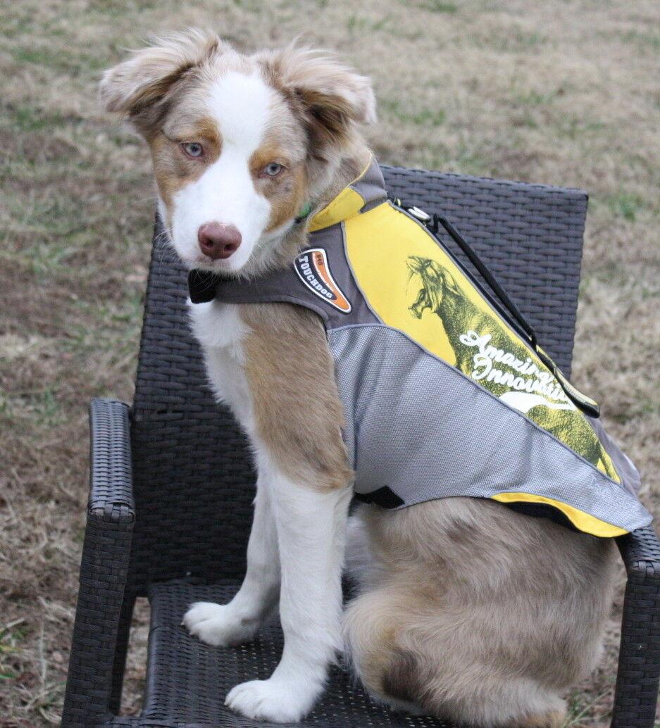 Touchdog Pro Outdoor Reflektierende Wasserdichte Teflonweste Hund Jacke Kleid Mantel