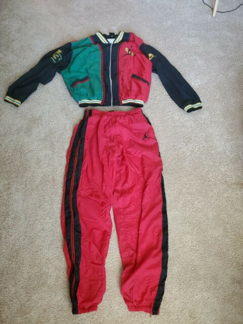 RARE! Nike Air Jordan Tracksuit Sweatsuit Green Yellow Red Unknown Size Small?