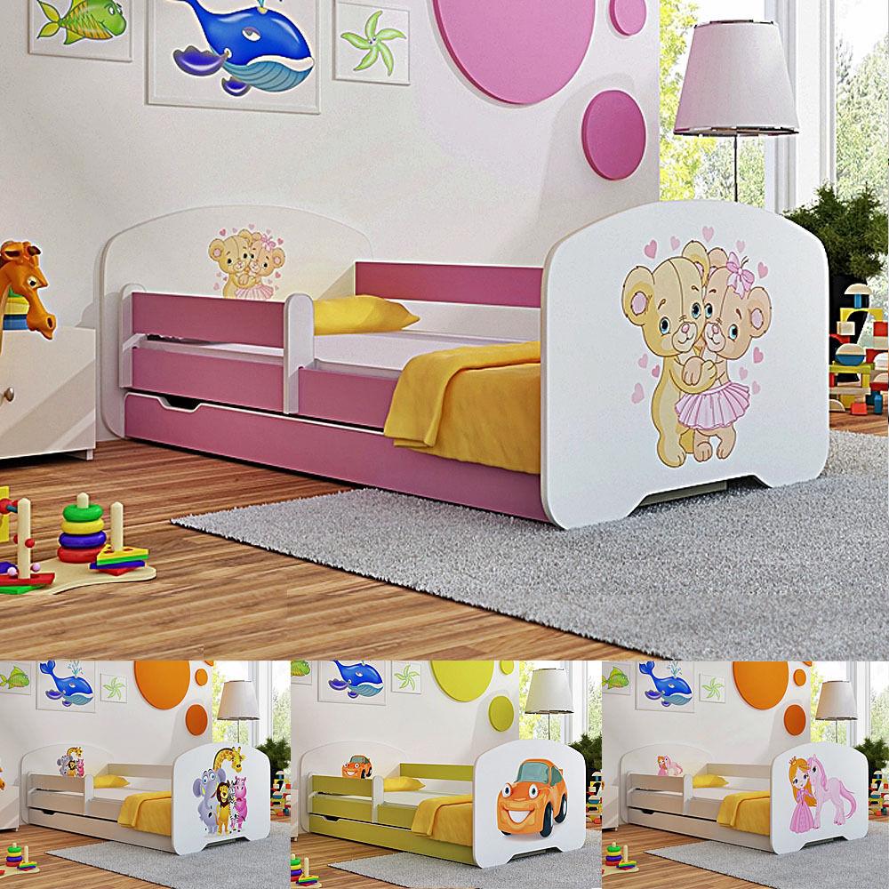 Tout-petit enfants lit avec matelas tiroir casier boys & girls 140x70 160x80