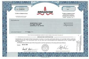 Broadcom Corporation 2006 Commune Stock Certificat A2VtJOcR-09165411-296319935
