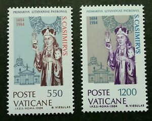 [SJ] Vatican 5th Centenary Of Death Of St. Casimir In Lithuania 1984 (stamp) MNH
