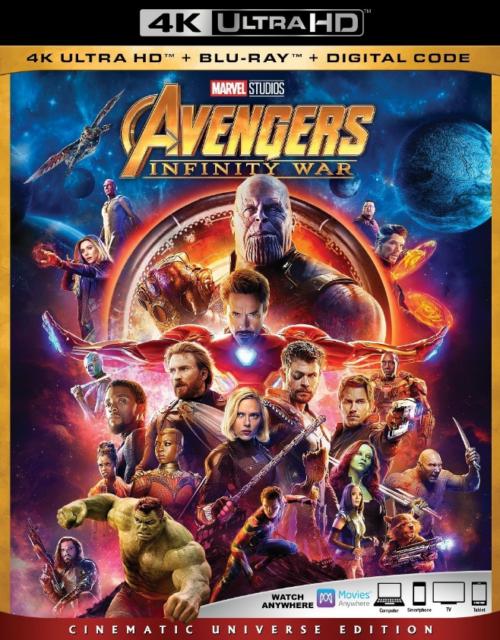 Avengers Infinity War 4k Blu-ray