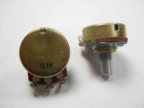 C2 1K ohm Solder Lug Linear Rotary Single Turn QTY 5 ea Potentiometer MOUB1K