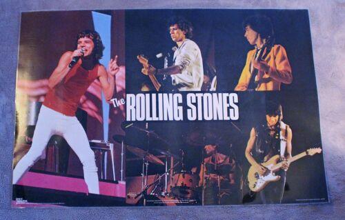 Rolling Stones 5 Pix 1982 Pace Minerva Live Concert Scotland Poster #3359 EX C8