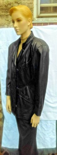 8 Embroidered Leather Must 80's Suede Italy Vtg Jacket Softest Black See amp; Bally 0qHg6zH