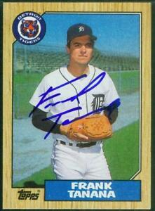 Original-Autograph-of-Frank-Tanana-of-the-Detroit-Tigers-on-a-1987-Topps-Card