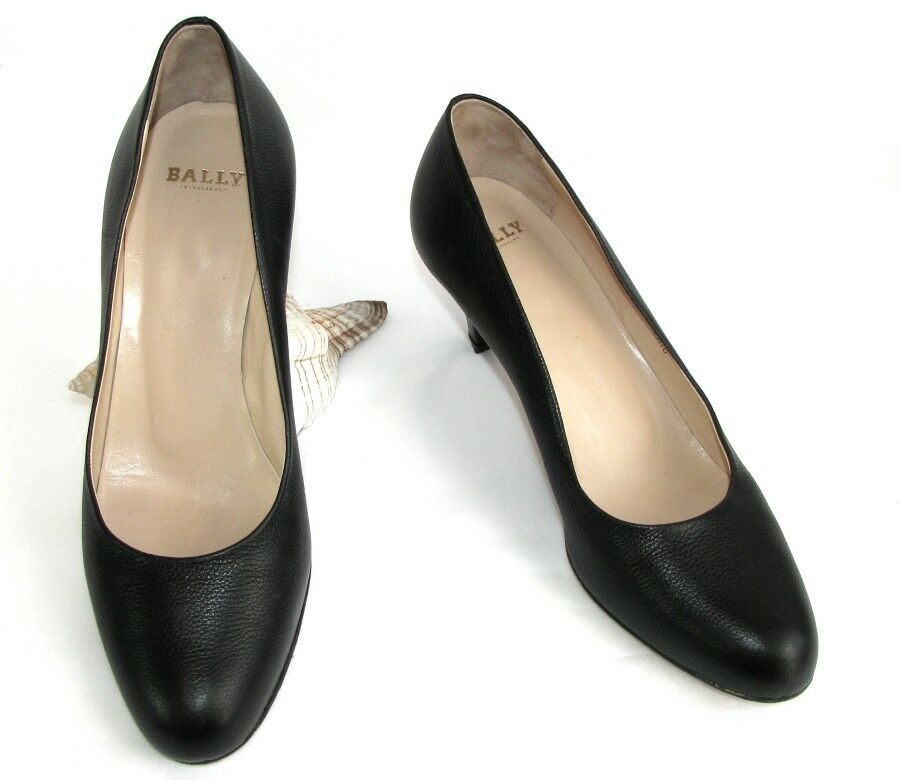 BALLY SUISSE - Escarpins Escarpins Escarpins CORTINA BOTTALATO Cuir negro 37 E - EXCELLENT ETAT  mejor calidad