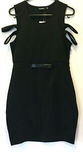 BNWT-Rosebullet-Womens-Black-Sleeveless-Dress-with-Side-Zipper-Size-12