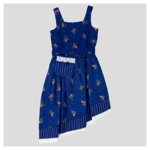 NWT DISNEY TARGET BEAUTY /& BEAST S M L Navy Cotton Floral Dress Belle Jacqueline