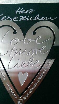 """1 Lesezeichen Herzform """"love Amore Liebe"""" V. Räder Geschenke Hochzeit neu Dinge FüR Die Menschen Bequem Machen"""