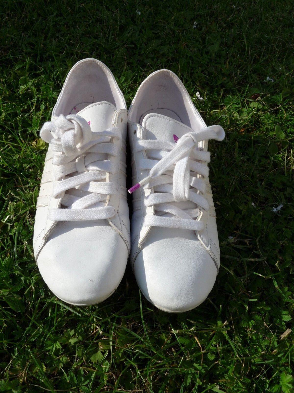 ADIDAS 38 Campus DP Round Sneaker Schuhe Gr. 38 ADIDAS weiß super Zustand RAR 8b258d