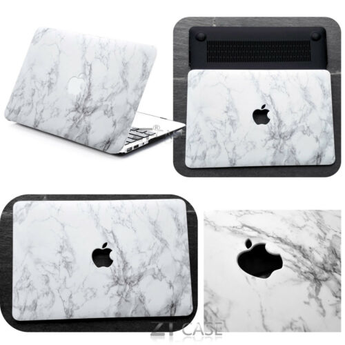 """KB Hard Rubberized Marble Painting Case For Macbook Pro Air 11 13/""""15/"""" Retina 12"""