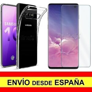 Pack Funda Silicona Cristal Templado Samsung Galaxy S10 Protector Carcasa Tpu Cell Phone Accessories Cases, Covers & Skins