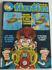 JOURNAL TINTIN N°325 POSTER LES FOUS DE KABOUL 1981