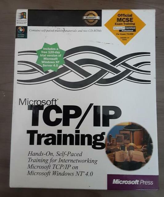 MICROSOFT TCP/IP TRAINING SELF-PACED MATERIALS & 2 CD-ROMs