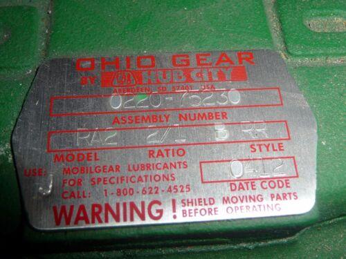 Hub City Ohio Gear Right Angle Bevel Gear Drive 0220-75230 RA2 2//1 B RR