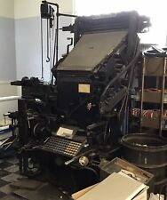Antique Linotype Machine Accessories Available And Book