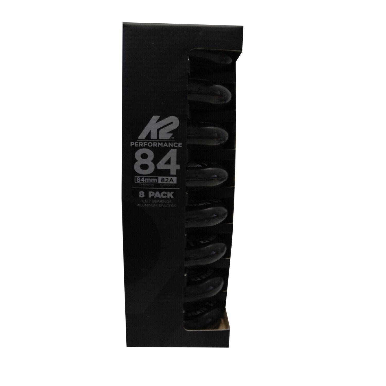 K2 Performance 84 mm 82A Rollen 8-Pack   ILQ 7, Aluminium Spacern, Produkt 2019