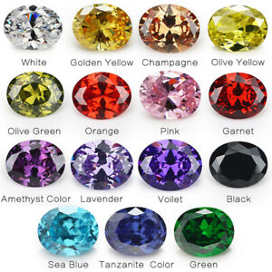 50pcs-2x3-13x18mm-White-cz-stone-AAAAA-Oval-loose-Cubic-Zirconia-4-Colors