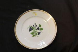 Kuchenteller-Goldrand-Blumendekor-handbemalt-Blumen-Blaetter-3-7