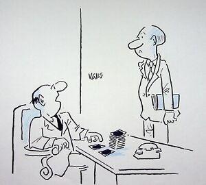 [ Humor - Presse ] Guy Valls - Urlaub Fehler Beim Fkk - Zeichnung Original