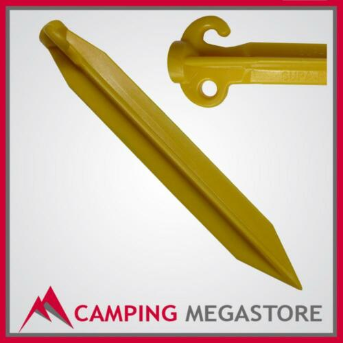 TENT PEG YELLOW 400MM SUPA WIDE FOR SAND AND SOIL CAMPING 4 PACK
