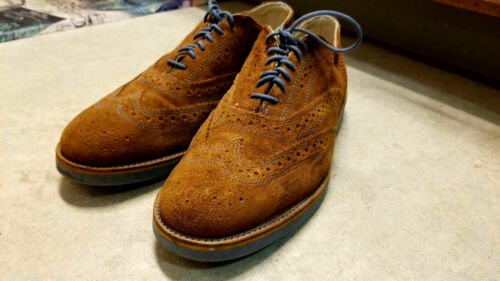 Vintage 50's/60's WALKOVER Brown & Blue Suede Wing