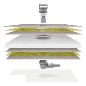 duschelement duschboard befliesbar bodeneben mit mineralbeschichtung dusche ebay. Black Bedroom Furniture Sets. Home Design Ideas