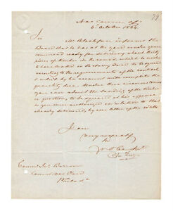 John-Rodgers-War-of-1812-Naval-Commander-Autograph-1834-Letter-Authentic