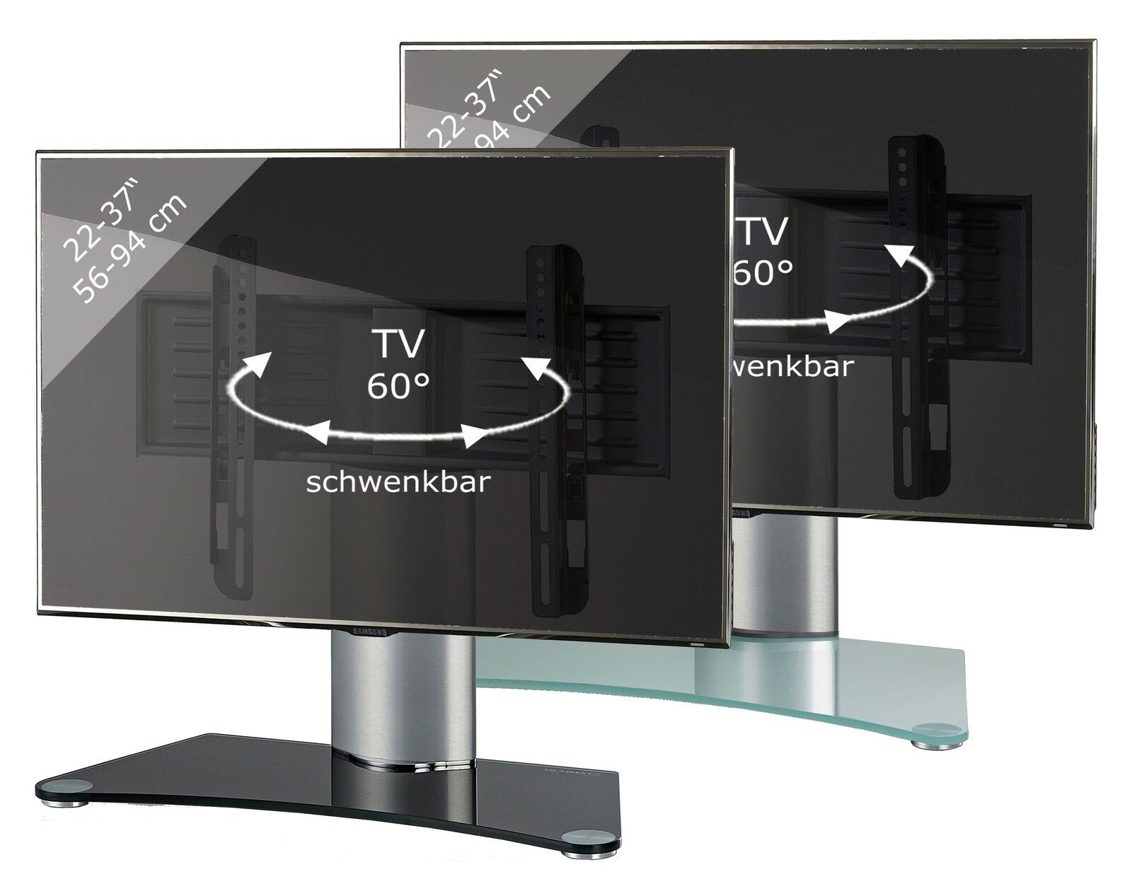VCM TV-Standfuß Tischfuß TV TV TV Fernseh Aufsatz Fuß Erhöhung schwenkbar drehbar 4bdeb5